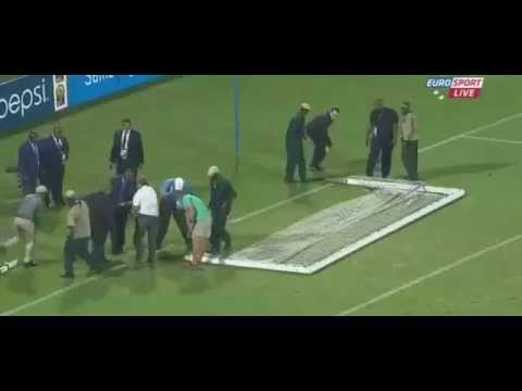 Algerian Player Broke The Goal - Algeria Vs Togo - African Cup Of Nations - FAIL.