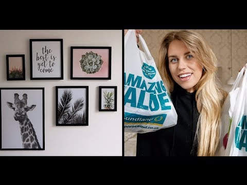 FEBRUARY POUNDLAND HAUL | DIY GALLERY WALL