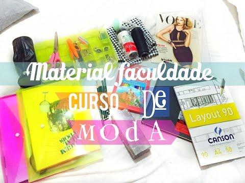 Material faculdade de moda