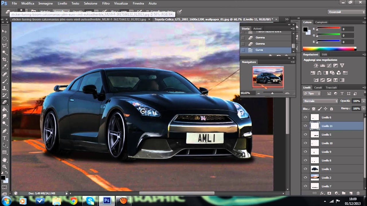 Virtual Tuning Photoshop Nissan Gtr Tributo A Paul Walker