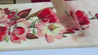 Decoupage tutorial – Decoupage on canvas