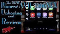 Pioneers new AVH 3300NEX flip out radio unboxing and review