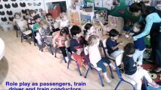 Toddlers train role play