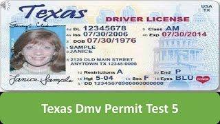 Texas DMV Permit Test 5