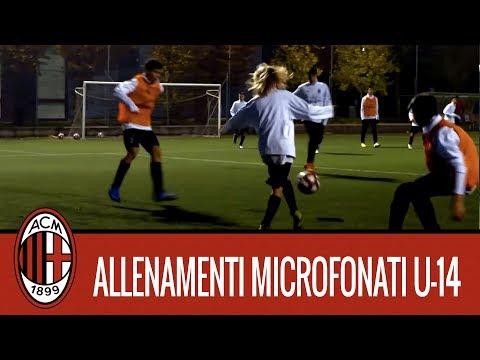 Milan Next: l'allenamento microfonato dei ragazzi dell'Under 14 rossonera