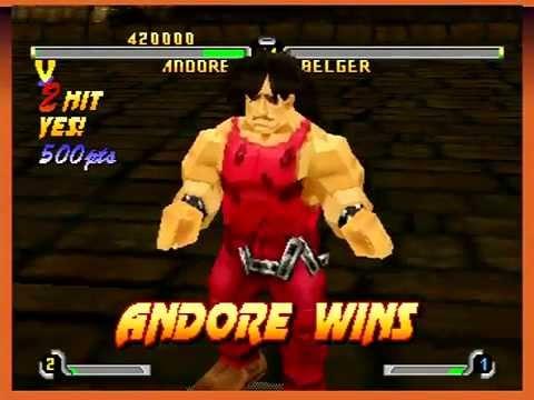 Final Fight Revenge (Sega Saturn) Arcade Mode as Andore