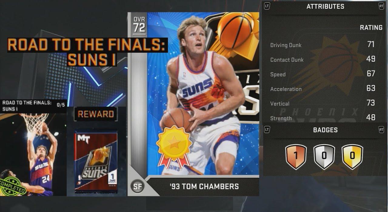 NBA 2K16 Reward Tom Chambers Attribute Ratings & Badges
