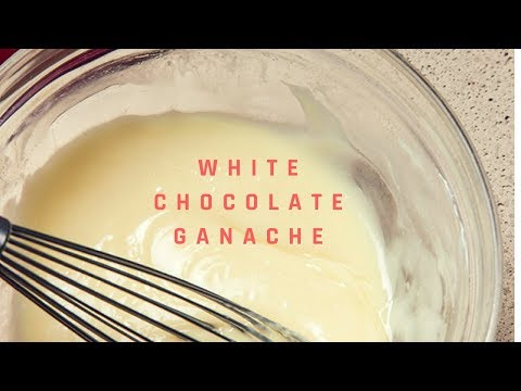 How To Make Easy White Chocolate Ganache For Cake | Cream Recipe For Frosting