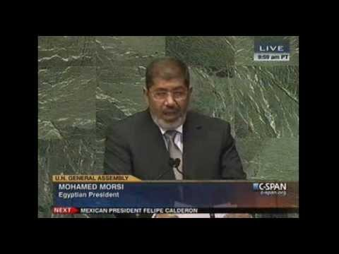 Egyptian President Mohammed Morsi Addresses the U.N. 9-26-2012
