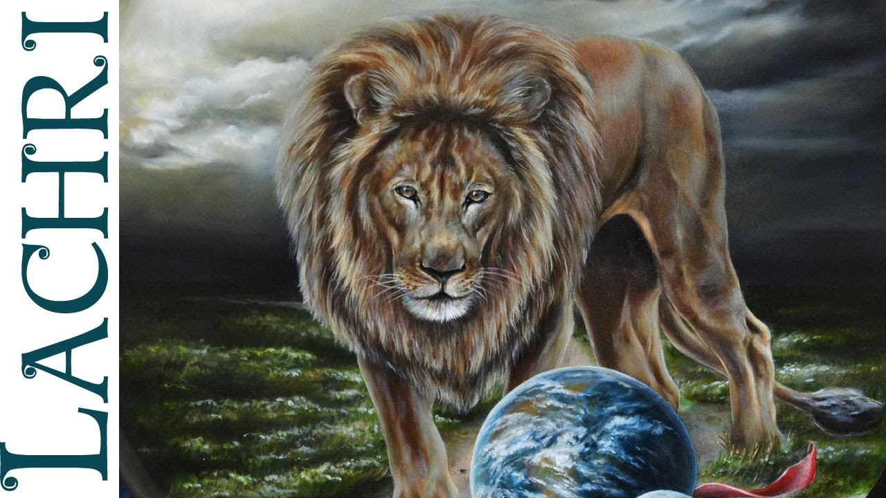 Speed Painting Lion Amp Earth In Oil Over Acrylic Time