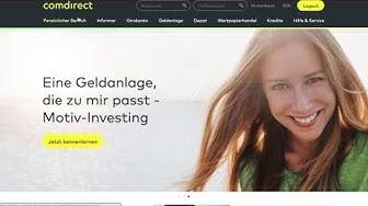 Comdirect Wertpapiersparplan einrichten, ändern und löschen