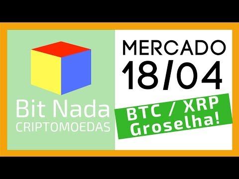Mercado de Cripto! 18/04 BITCOIN / XRP / MUITA GROSELHA!!