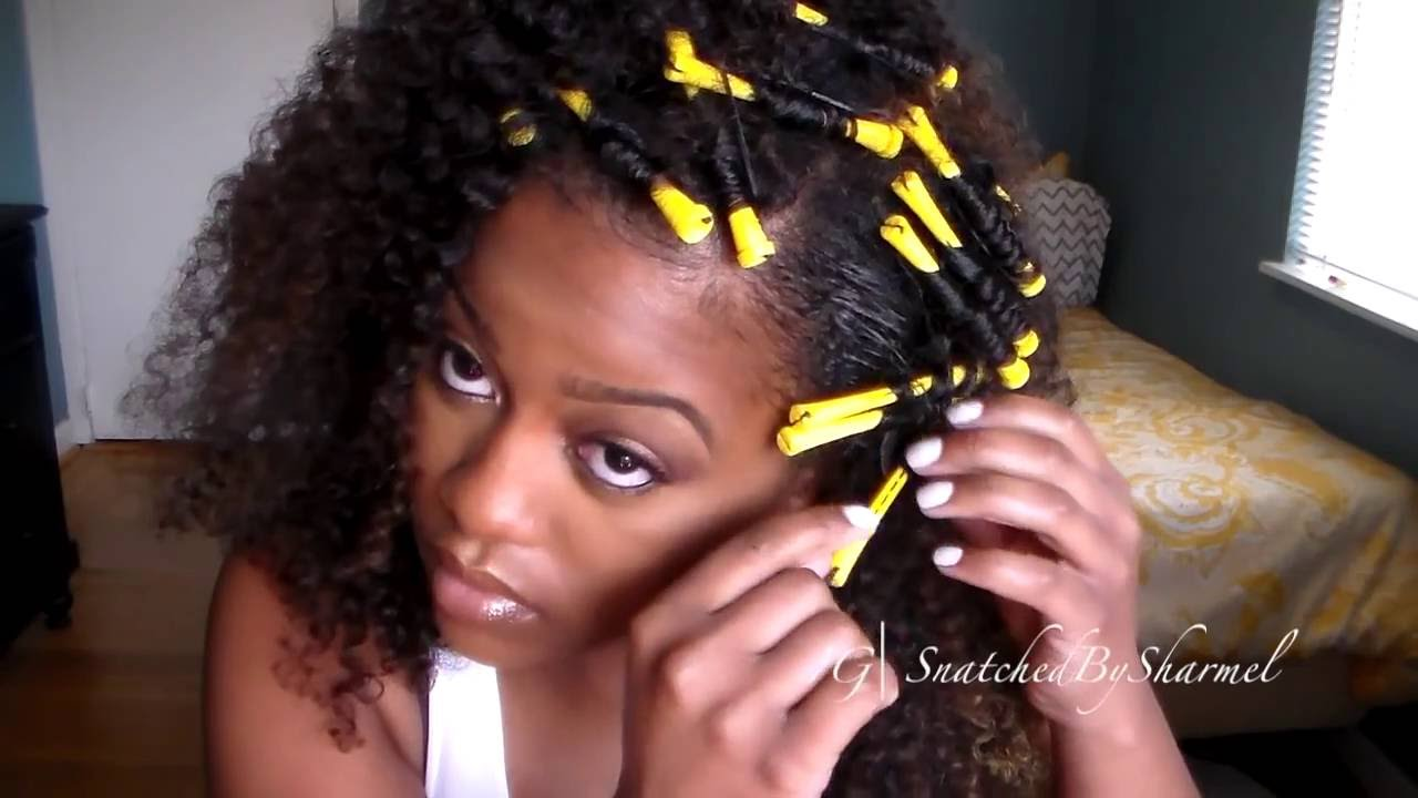 no heat styles for relaxed hair blending relaxed hair w curly wig no heat 2624