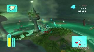 MySims SkyHeroes (Wii) - Tropical Dogfight Gameplay