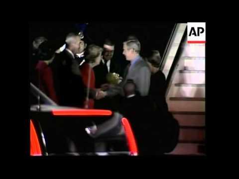 President arrives from Poland