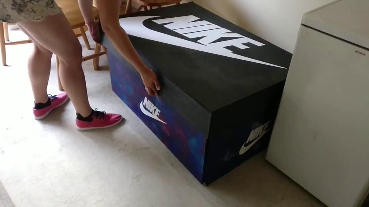 Giant Nike shoe box [I made] - YouTube