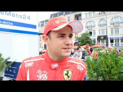 Interview with Davide Rigon  from AF Corse Ferrari at 24 Hours of Le Mans Pesage