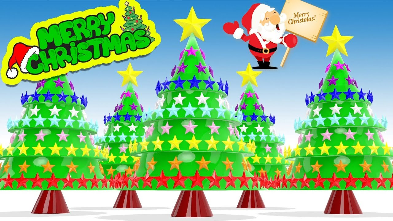 Merry Christmas Learn Colors for Kids | Jingle Bells Song for ...