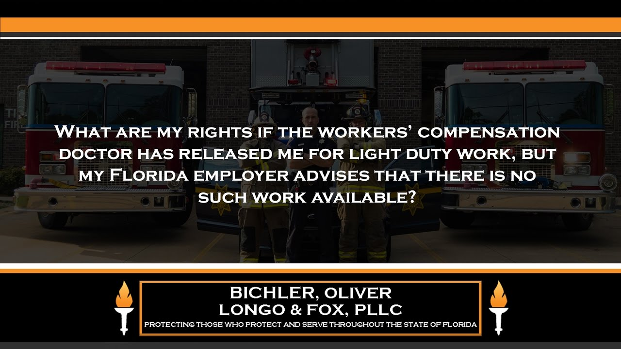 What Are My Rights If The Workersu0027 Compensation Doctor Has Released Me For Light  Duty.
