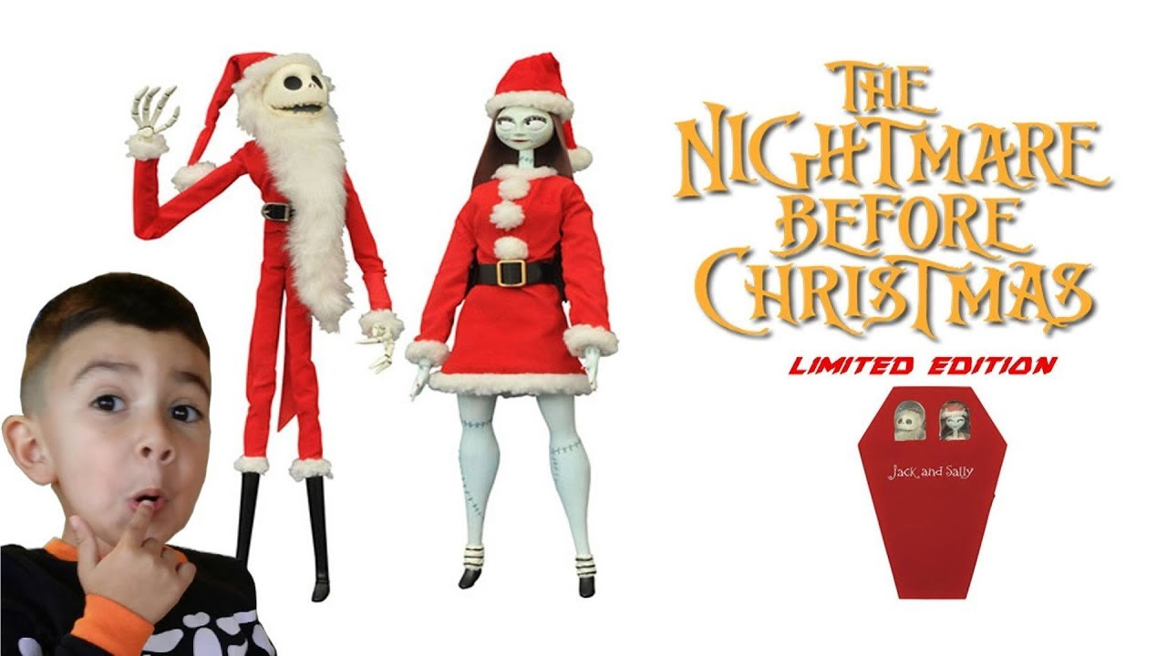 Nightmare Before Christmas Coffin Doll Santa Jack /& Sally Doll Set
