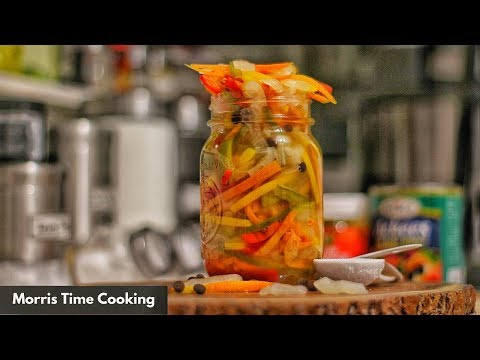 Jamaican Escovitch Pickle  (Sauce) Lesson #141 | Morris Time Cooking
