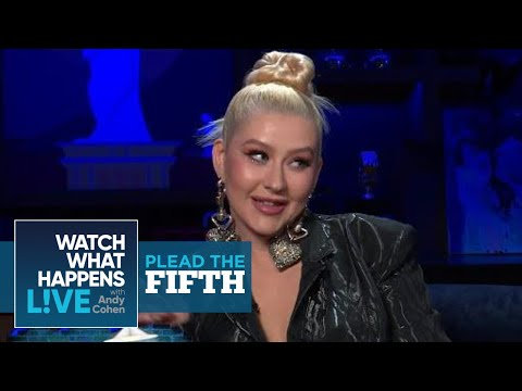 Christina Aguilera Refutes Swinging On Pink   Plead The Fifth   WWHL