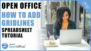 How to add grid lines to an open office calc spreadsheet