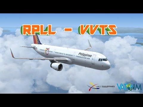 VATSIM FULL FLIGHT RPLL(Manila) - VVTS(VIETNAM) A321 Philippine Airlines