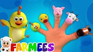 Animais dedos Família   3D Rima   Rimas para crianças thumbnail