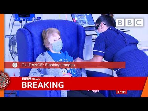 Covid-19 vaccine: First person receives Pfizer Covid-19 vaccine in UK ? @BBC News live - BBC
