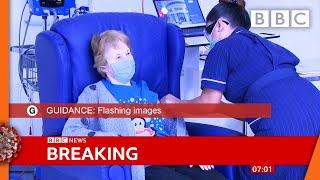 Covid-19 vaccine: First person receives Pfizer Covid-19 vaccine in UK ???? @BBC News live - BBC