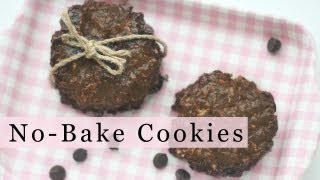 No-bake Chocolate Cookies With 3-ingredient In 5 Minutes 노오븐 초콜릿 쿠키 만들기