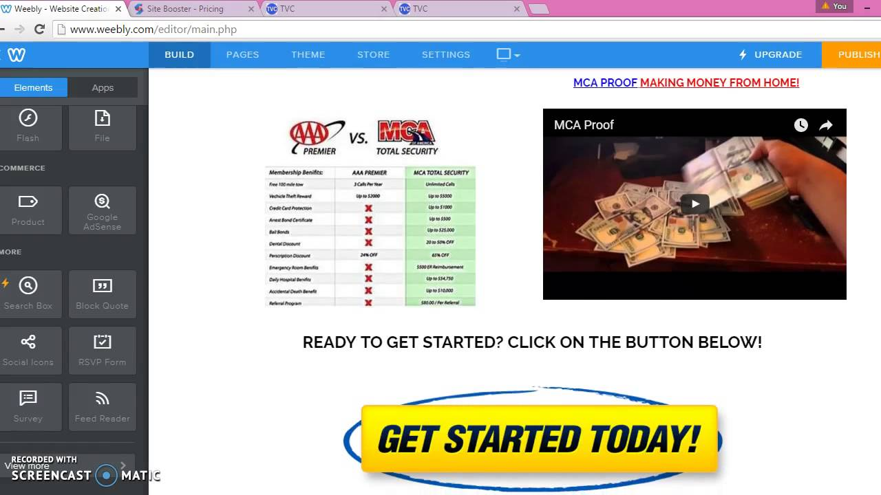 How To Create Your Free Weebly Website For MCA