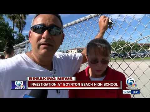 Police investigation at Boynton Beach High School