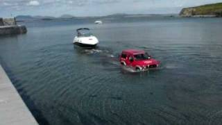 'No problem'... Je moet wat zonder trailerhelling om je Sea Ray te water te laten!