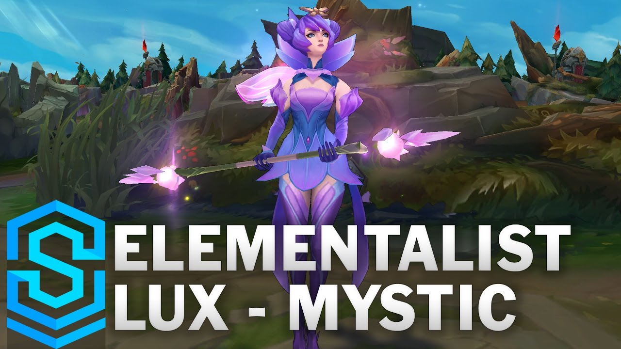 Elementalist Lux Mystic Form Skin Spotlight League Of Legends