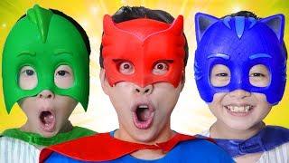 신기한 아이스크림 가게! 슈퍼히어로 파자마 3총사로 변신! Mashu Plays Superhero Ice Cream Shop! - 마슈토이 Mashu ToysReview