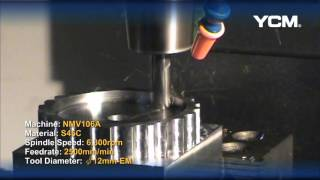 YCM NMV106A Cutting Demonstration