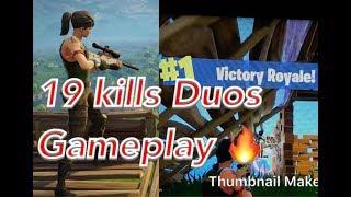 Aggressive Duos 19 kills (Fortnite Battle royale)