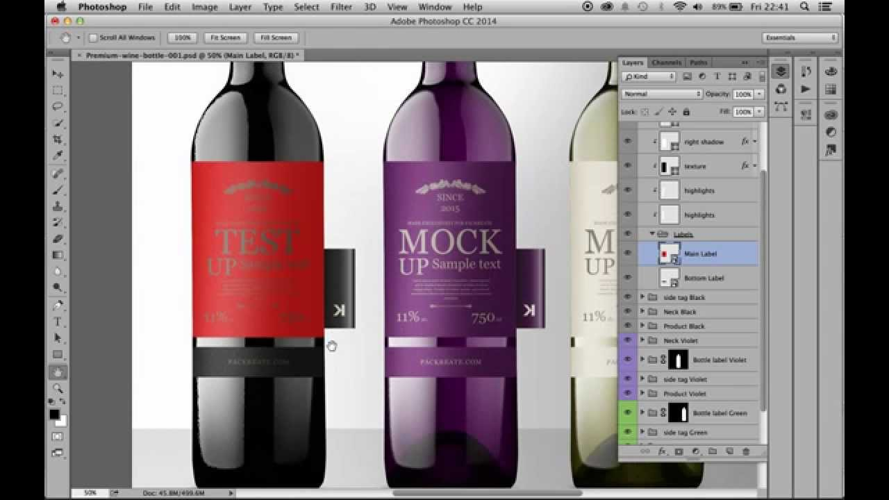 Premium Wine Bottles With Tag PSD Mockup   YouTube