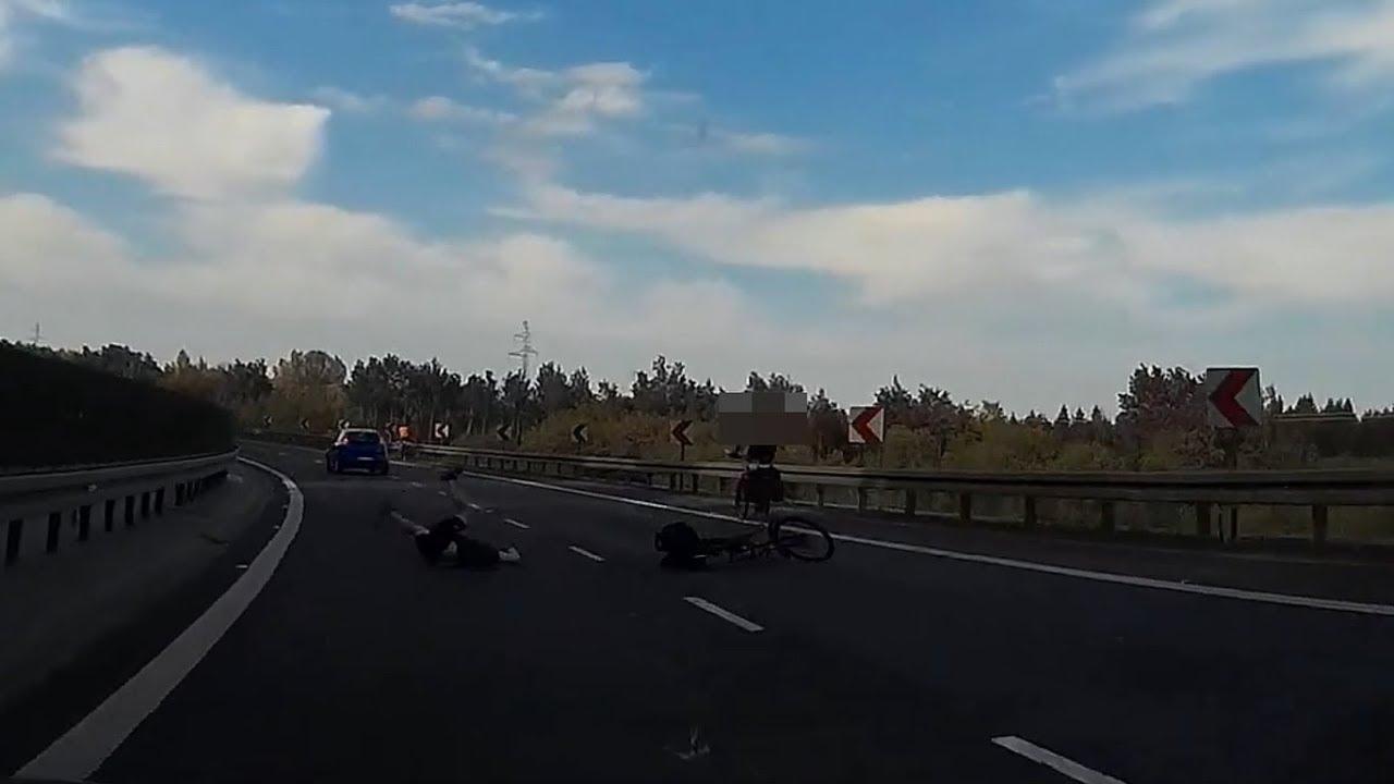 Dramatyczne chwile na DK-81 w Wiślicy. Rowerzysta rozjechany przez samochód!