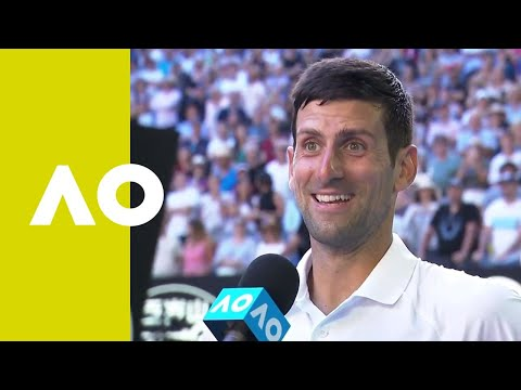 Novak Djokovic on-court interview (3R) | Australian Open 2019