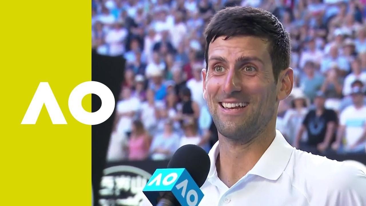 Novak Djokovic On Court Interview 3r Australian Open 2019 Youtube