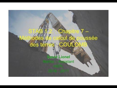 STAB 1.2. : Chapitre 7 : Méthodes de calcul de poussée des terres : Coulomb