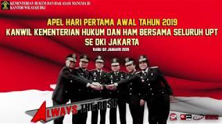 Apel Hari Pertama Awal Tahun 2019 Kanwil Kumham Beserta Seluruh UPT Se-DKI Jakarta