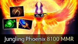 Jungling Phoenix 8100 MMR by Mind_Control — solo ranked Dota 2