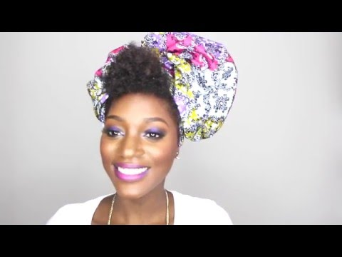 Natural Hair Style: How to tie 3 DIFFERENT handmade African Inspired Headwraps | DIY TUTORIAL