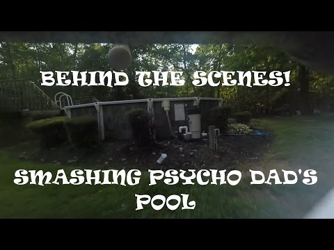 Behind the Scenes - Smashing Psycho Dad's Pool Stunt!!!