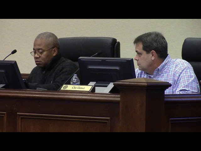 Clay Griner moved for executive session, 2019-12-09