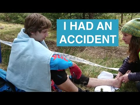 #12 Race Vlog - Innerleithen SDA // I had an ACCIDENT